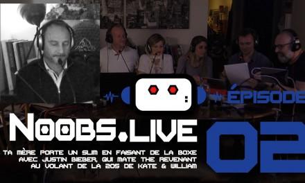 Noobs Live EP02 Chronique moteur de Vroum (Fred Hosmalin)